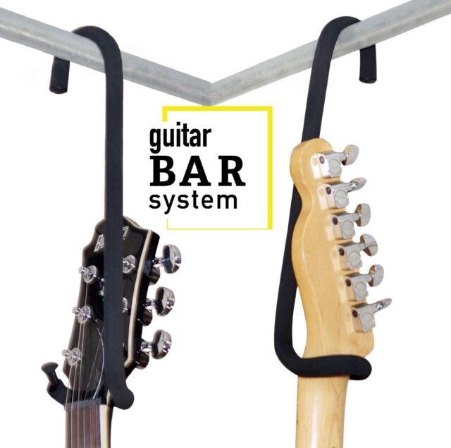 "Guitar Bar Hanger 12 "" Closet Hanger/Display for Electric Acoustic 4 String Bass"
