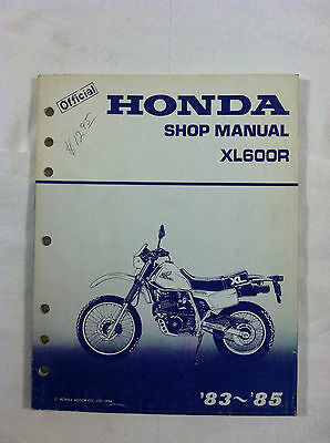 HONDA XL 600 R DEALER'S SERVICE SHOP MANUAL GUIDE 1983 1984 1985