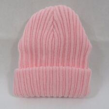 Baby Babies Boys Girls Woolly Knitted Winter Beanie Hat Turn Up Plain 0 6  Months f220bad97bcb