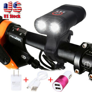 3000-lm-double-DEL-rechargeable-velo-Head-Light-Bike-USB-Lampe-Rotation-Mount