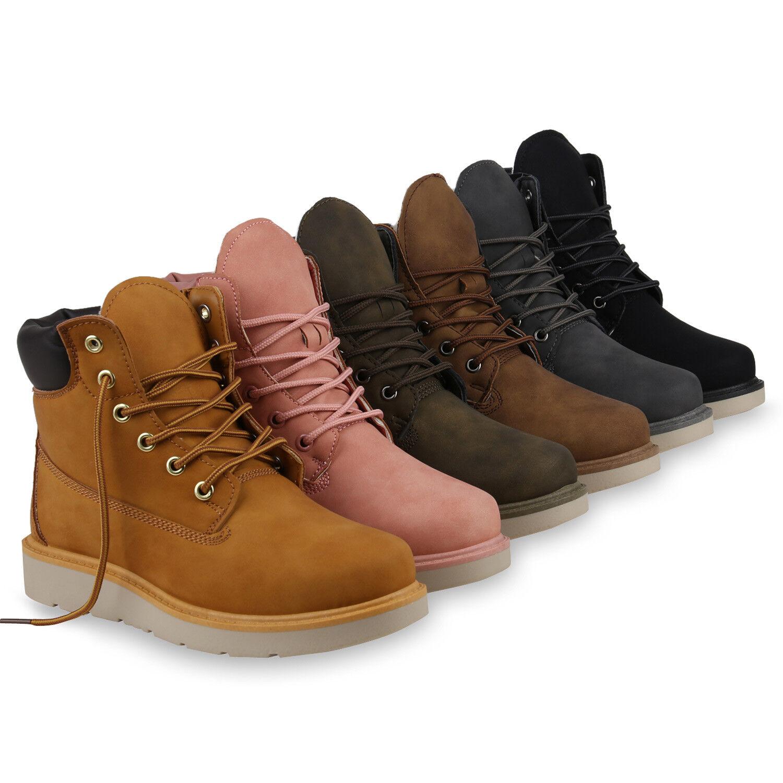 Damen Worker Boots Outdoor Warm Gefütterte Stiefeletten 820001 Schuhe