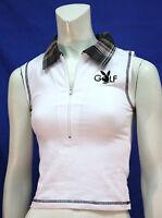 Ladies Playboy Golf Sleeveless Shirt Plaid Collar Bunny Logo Casual Fun