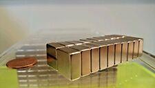 "20 Neodymium Block Magnets.  Super strong Rare Earth N52 grade. 1/2 × 1/2 × 1/4"""
