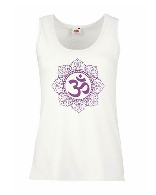 Ladies White On LSD Purple Mandala Vest Living The Dream Euphoria Trip
