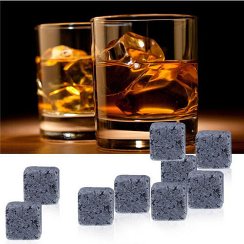 9Pcs Whisky Ice Stone Cooler Cube Scotch Soapstone Glacier Rock for Drink Wine