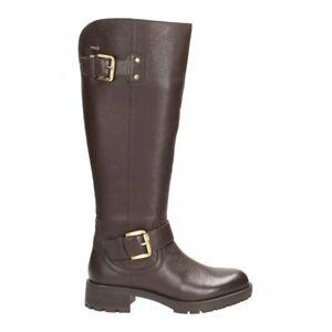 39 5 Unido 6 oscuro y reunidas para Clarks cálidas altas mujer Botas cuero Gtx altas marrón Hola Reino Cag6w