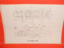 1966 ENGLISH FORD ANGLIA 105E CONSUL 315 CORTINA GT FRAME DIMENSION CHART