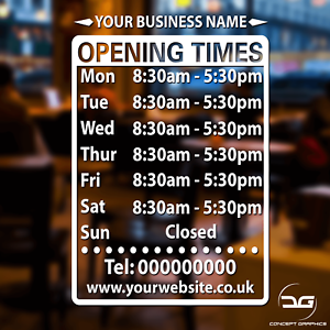 Business-Opening-Hours-Times-Sign-Personalised-Window-Wall-Vinyl-Decal-Sticker