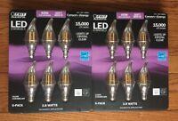 Feit Chandelier Led 3.8 Watt Candelabra Light Bulbs 12-pack =40 Watts/2700k