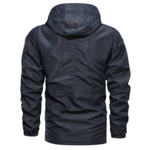 Mens Waterproof Military Jacket Winter Hooded Outdoor Combat Cargo Tactical Coat