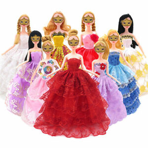 10-pcs-Lots-Fashion-Party-Daily-Wear-Dress-Outfits-Clothes-For-Doll-Toys