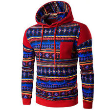 Red  Men's Winter Hoodie Warm Hooded Sweatshirt Coat Jacket Outwear Sweater L2