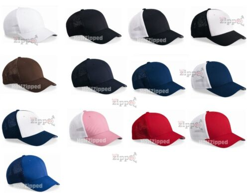 2 of 3 Flexfit Trucker Cap Fitted Mesh Hat 6511 Baseball Hat - One Size -  NEW 17 Colors 3bea2c0b8561