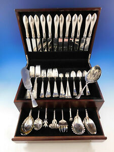 Colonial-by-Gorham-Sterling-Silver-Flatware-Set-12-Service-Dinner