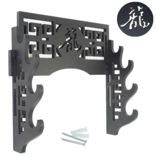 Eforlife Sword Holder Wall Mount Samurai Display Stand 4-Tier
