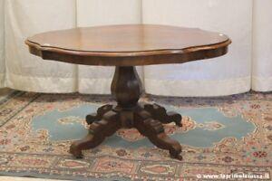 Tavolo Ovale Antico : Antico tavolo ovale in legno tavolino d epoca a biscotto l cm