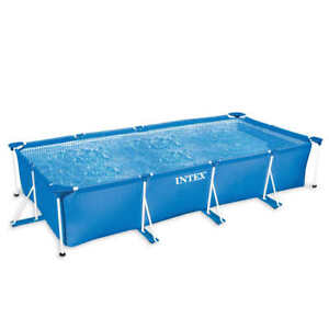 Intex piscine rectangulaire terrasse patio pataugeoire - Piscine rectangulaire hors sol intex ...