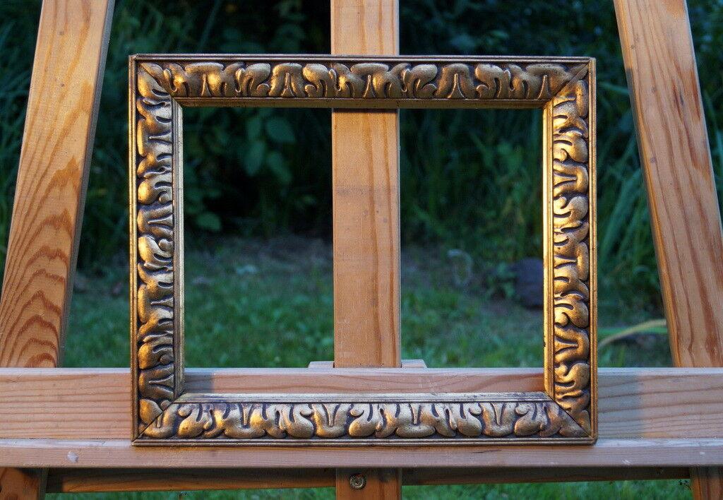 Fasto quadro cornice in stucco LEGNO MASSICCIO 28 x 24 FM 24 x 19 cm esclusivo telaio in legno