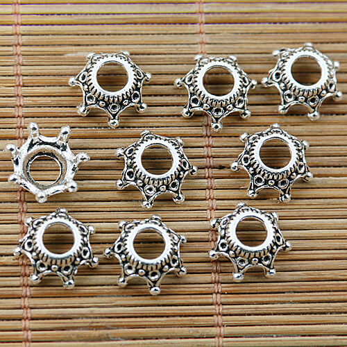 26PCS Tibetan silver plated nice big hole bead caps EF1762