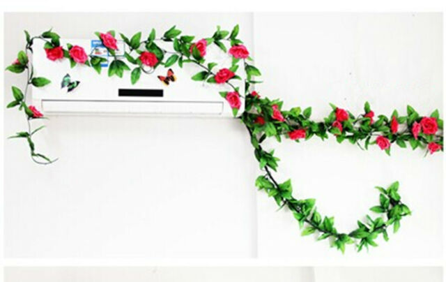 rose red Brand new and high quality  Material:Silk flowers,leaves.plastic vine