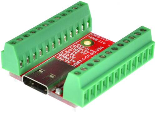 USB 3.1 Type C Female socket breakout board Arudino elabguy USB3.1-CF-BO-V3A