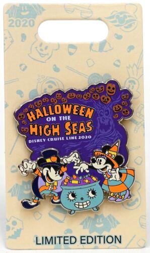 New Disney Cruise Line 2020 Halloween On The High Seas Mickey Minnie Pin LE 2500