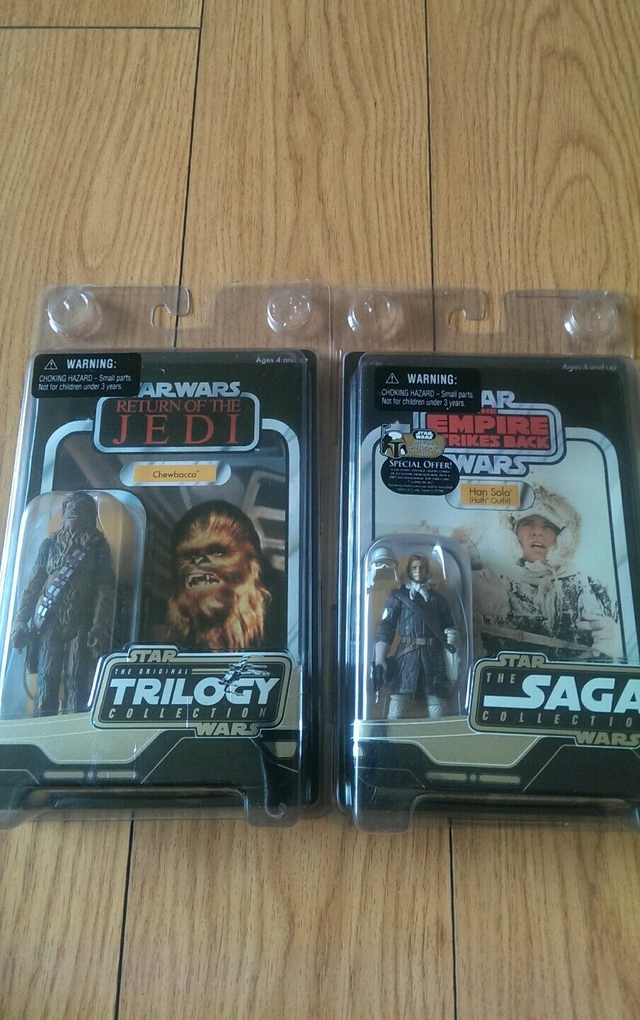 Han Solo Hoth Outfit 2007 STAR WARS The Saga Collection And otc Chewbacca...