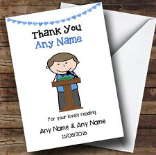 Thank You For Doing A Reading At Our Wedding Male Personalised Thank You Card