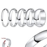 Platinum Wedding Ring Solid Hallmarked Court Shaped Polished Band Sizes H-q