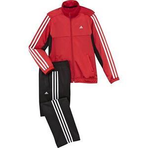 Tuta-Tracksuit-da-Bambino-Ragazzo-Sport-Adidas-YB-TS-TIB-KN-OH-Rossa-Nero