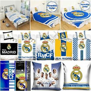 Image Is Loading Real Madrid Bedding Accessories Football Duvet Covers Towels