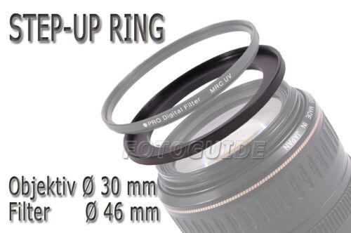 Step-Up Ring Filteradapter Adapterring 30 mm 46 mm 30-46mm