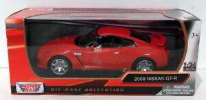 MOTOR-Max-1-24-SCALA-DIECAST-73384-2008-NISSAN-GT-R-ROSSO
