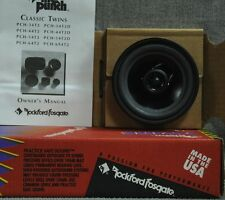 """NOS American made Old School Rockford Fosgate Punch 5¼"""" 2 way Twins PCH-54T2D"""