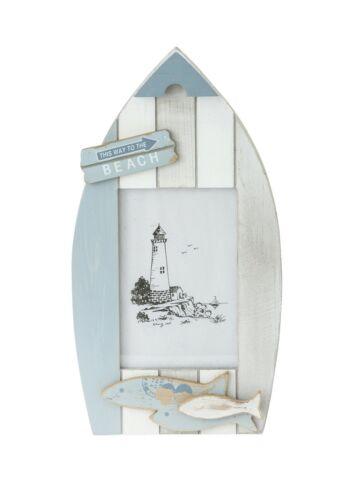 """Bleu Nautique Mer plage effet vieilli bateau en bois forme photo cadre photo 4x6/"""""""