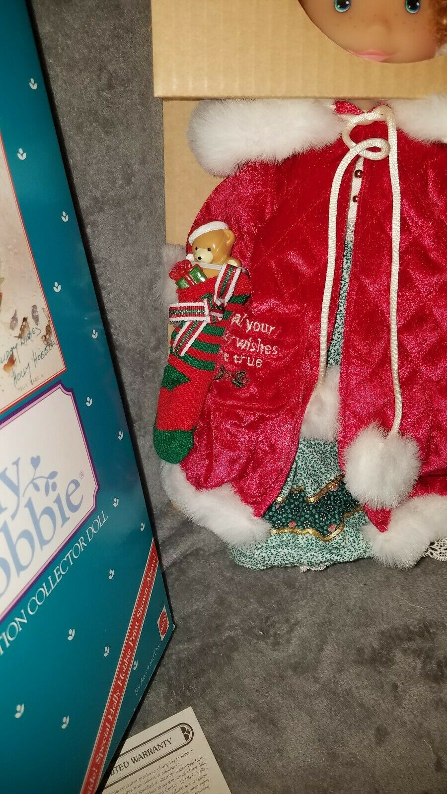 Holly Hobbie Holiday Wishes doll 14 14 14 1 2  BNIB + Shipper box Vintage LTD Ed  5078 89c823