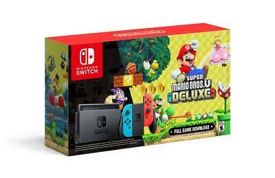 Nintendo Switch 32gb With New Super Mario Bros U Deluxe Console Bundle Ebay