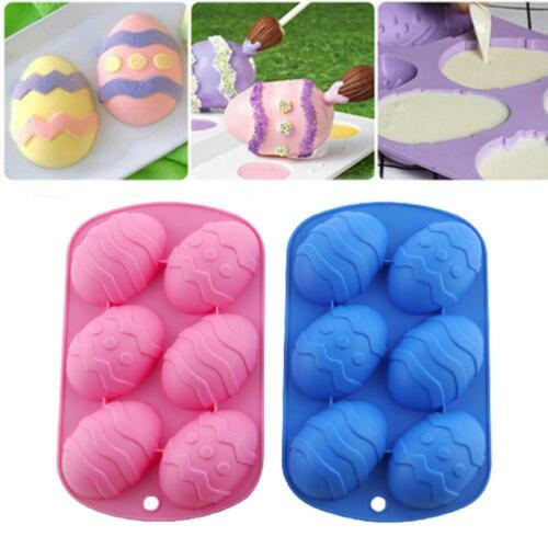 Easter Egg Shape Silicone Moulds Chocolate Mould Cake Dough Baking Ice Cube Tray