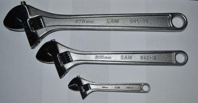 SAM Outillage 54-C6 Cl/é /à molette chrom/ée 6 Longueur 155 mm