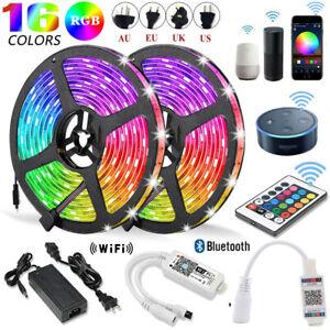 5-20M-5050-3528-RGB-SMD-Tira-de-Luz-LED-Bluetooth-Control-Remoto-Wifi-12V-fuente-de-alimentacion
