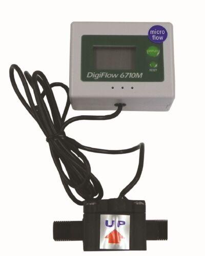 "Micro Digiflow 1//4NPT Digital Flow Meter count up total Water Liter LPM 56/""cable"