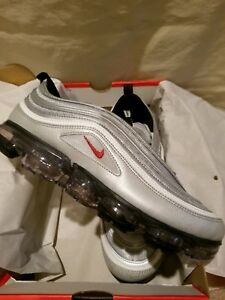 6ed27797af9af NEW IN BOX Nike Air VaporMax 97 Silver Bullet Metallic AJ7291-002 ...
