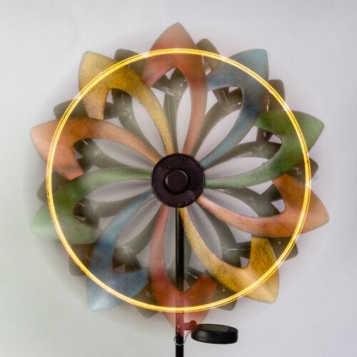 Outdoor Shooting Star Wind Spinner LED lights Garden Ornament 45cm Primrose™