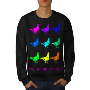 Black Pigeon New Fashion Pun Funny Men Felpa FwYa0zHqnx