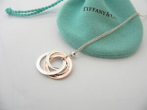 Tiffany co silver rubedo metal interlocking circles necklace image is loading tiffany amp co silver rubedo metal interlocking circles aloadofball Gallery