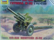 Zvezda 1//72 M30 122mm Sowjet Howitzer W// 2 Figuren #6122