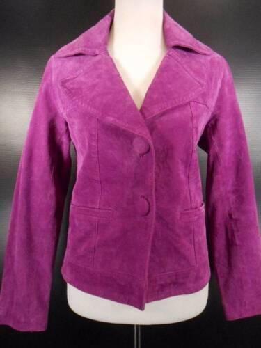 cuir femme véritable pour Veste Chico's violet taille daim doublé 0 de YFxaHYqw4