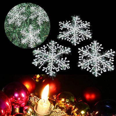 15 Pcs Classic White Snowflake Ornaments Christmas Holiday Party Home Decor Hot