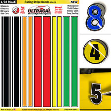 1/32 Slot Car Model Waterslide Decals IMPROVEMENT Racing Stripes #2  AFX AURORA