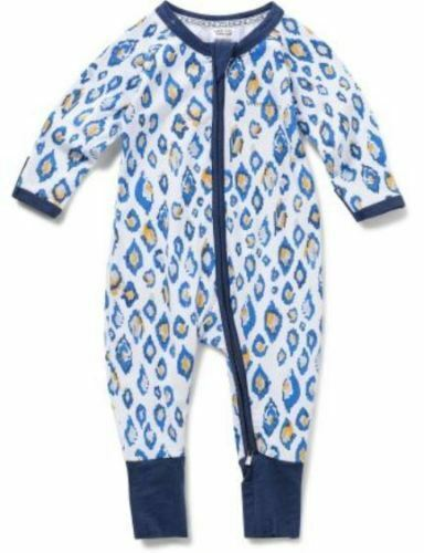 BONDS ZIP WONDERSUIT SNOW LEOPARD BNIP SZ 0 e48